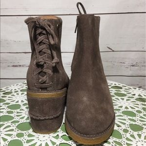 NWOB UGG Taupe Suede Ankle Boots